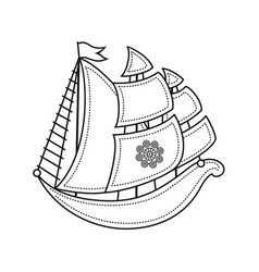 Little sailboat childrens toy vector
