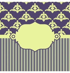 With baroque ornaments in victorian style vector