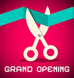 Grand opening on retro pink background vector