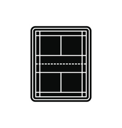 Tennis court black simple icon vector image