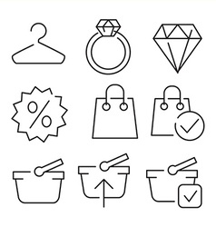 Linear flat color icons for uiux use vector
