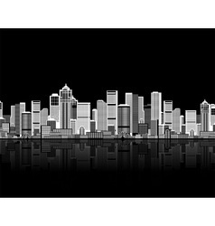 Cityscape seamless background vector