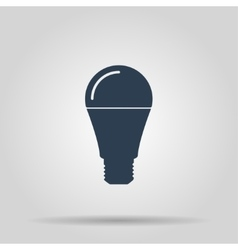 Led lamp icon vector