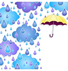 background for text with a yellow umbrella vector image