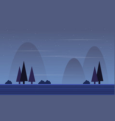 Collection game background with spruce scenery vector