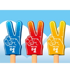 Color set of foam hand vector image vector image