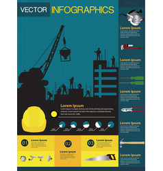Construction info-graphics containing vector image
