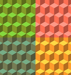 Cube set of seamless backgrounds vector image vector image