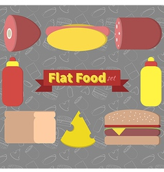 flat food vector image vector image