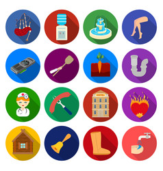 Food history sport and other web icon in flat vector