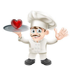 food lover heart chef vector image vector image