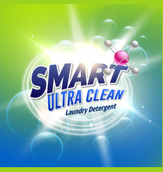 laundry detergent advertising concept design for vector image vector image