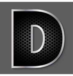 Metal grid font - letter vector image vector image