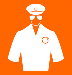 Police white icon vector