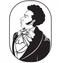portrait of gentleman vector image
