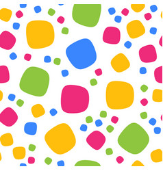Seamless pattern with colorful squares and dots vector