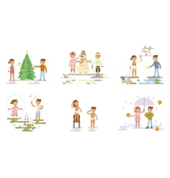 Set with children vector image vector image