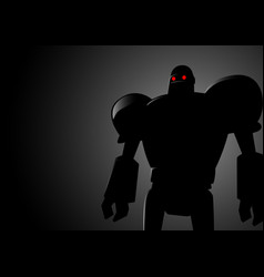 silhouette of a robot vector image vector image