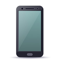 smartphone device with blank screen vector image vector image