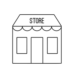 Store building line icon vector