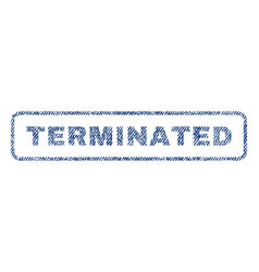 Terminated textile stamp vector