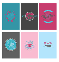 thank you gratitude feeling emotions text vector image vector image