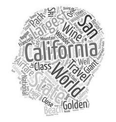 Travel california certainly the golden state text vector