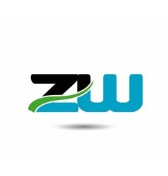 Zw company linked letter logo icon vector