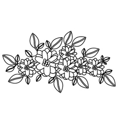 Isolated flowers decoration design vector
