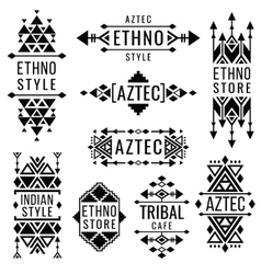 Tribal old mexican ornaments indian vector