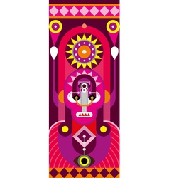 totem red vector image