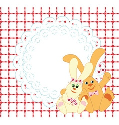 Background with rabbits vector