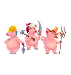 Three little pigs vector