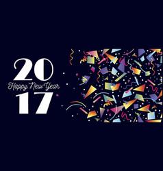 Happy new year 2017 party celebration web header vector