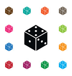 Isolated die icon dice element can be us vector