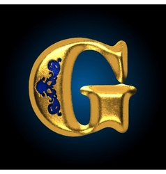Golden letter g vector