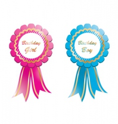 Birthday rosettes vector