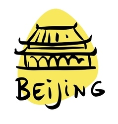 Beijing the capital of china vector