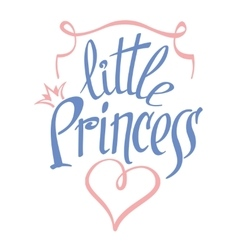 Little princess lettering for girl t-shirt vector