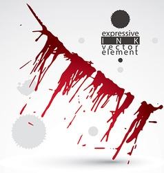 Artistic bright abstract dirty ink template vector image