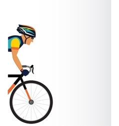 Cyclist male on a white background vector