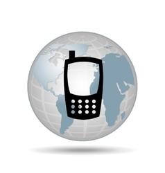 technology cellphone smartphone social media vector image
