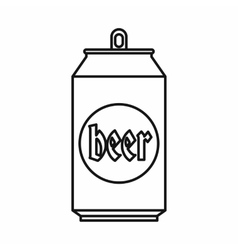Beer can icon outline style vector