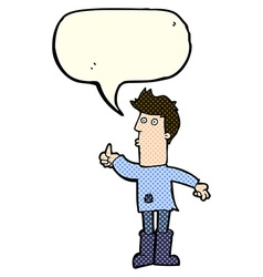 Cartoon poor man with speech bubble vector