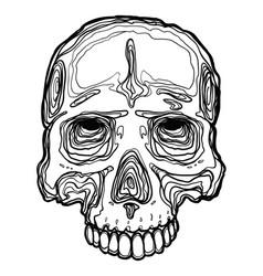 Cartoon skull vector