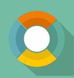 circle graph icon flat vector image