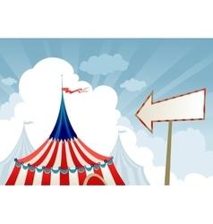 Circus tent top vector