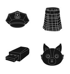 Clothing technology and or web icon in black vector