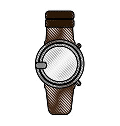 Color blurred stripe smartwatch with electronic vector