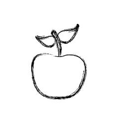 Contour apple fruit icon stock vector